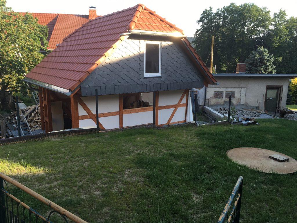 Gartenhaus mit Fachwerk